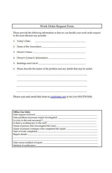repair work order request form in pdf