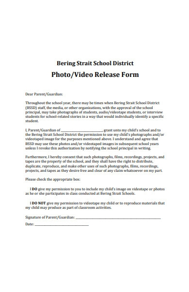 school video release form