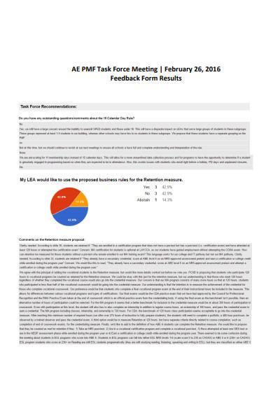 task force meeting feedback form