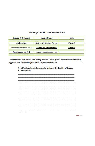 vendor work order form