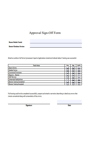 approval sign off form