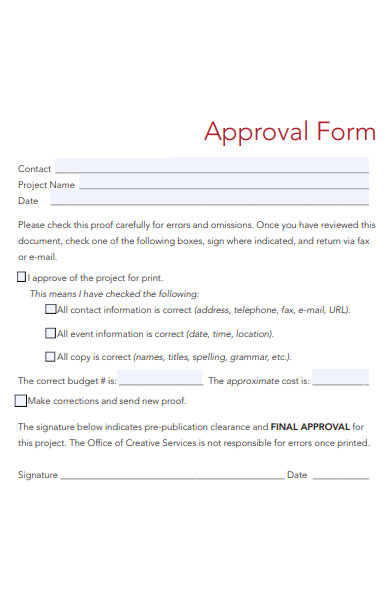 basic approval form