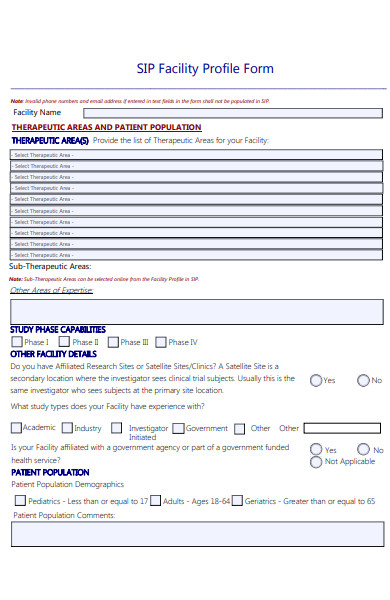 basic profile form