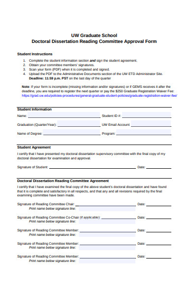 committee approval form