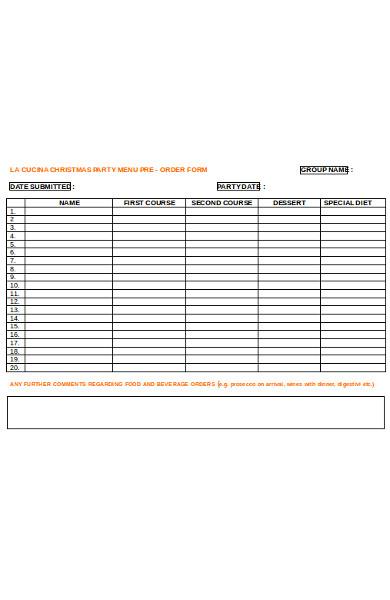 editable menu form