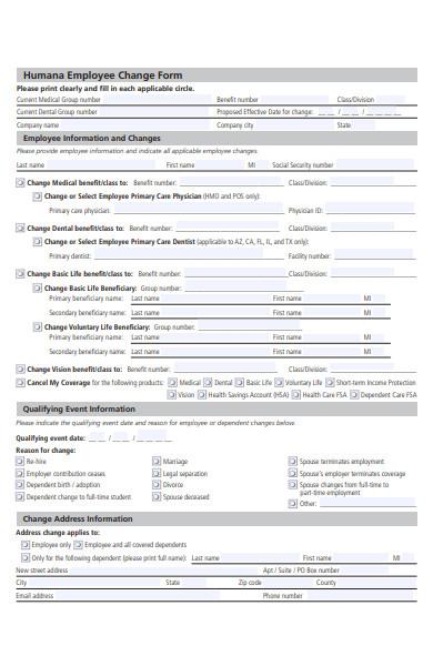 employee change form