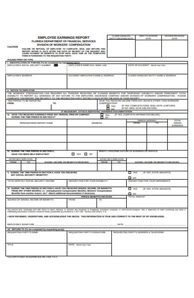 employee earning form