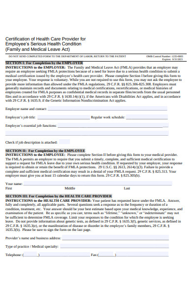 employee health care form