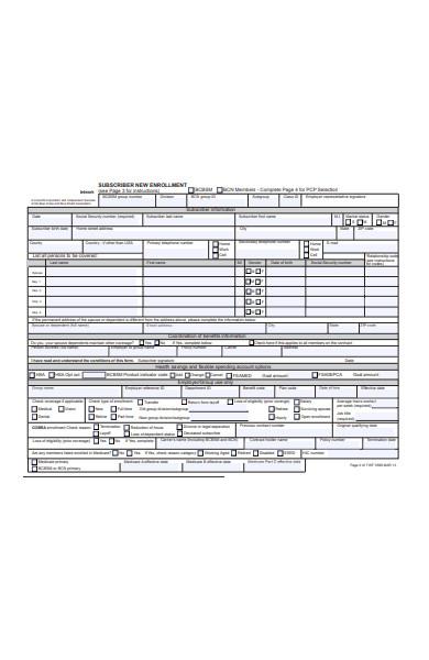 enrollment change of status form