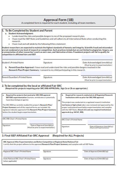 formal approval form