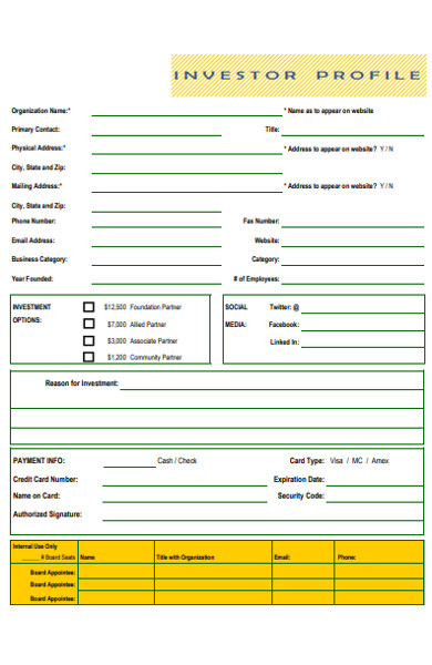 investor profile form