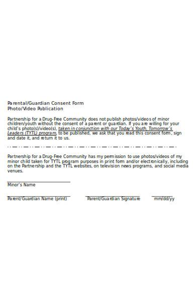photo publication parental consent form