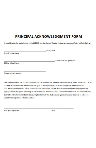 principal acknowledgment form1