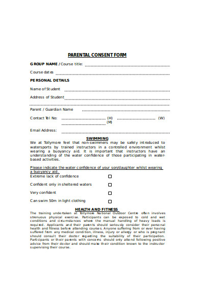 professional parental consent form