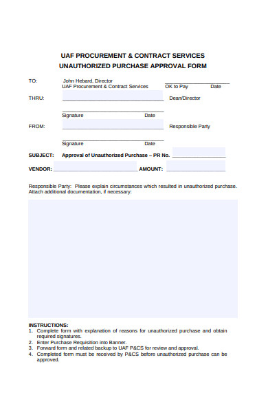 purchase approval form