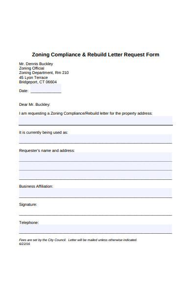 rebuild letter request form