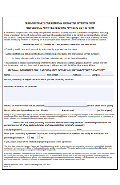 simple approval form