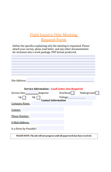 site meeting request form