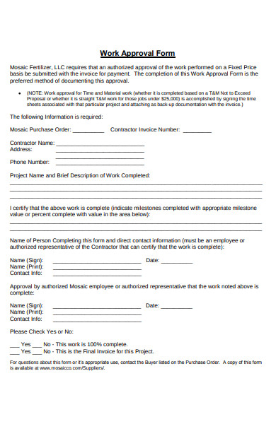 work approval form1