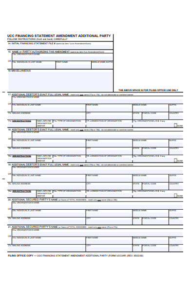 additional party national form