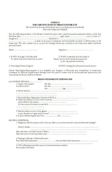 affidavit death form