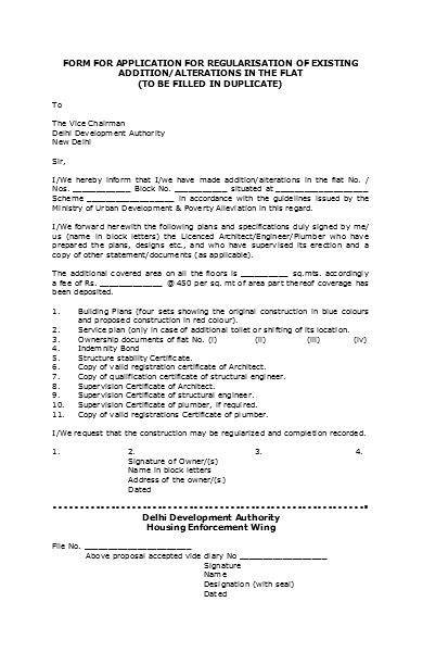 application form for building plan