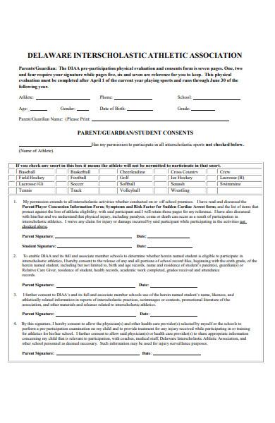 athlete association form