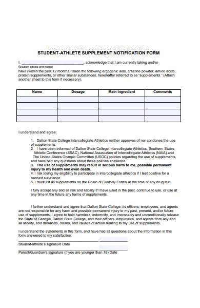 athlete nomination form