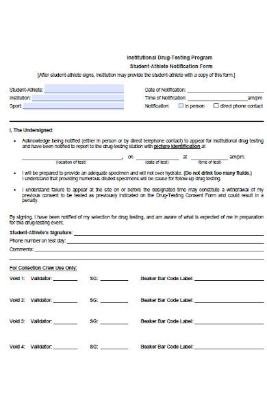 athlete notification form