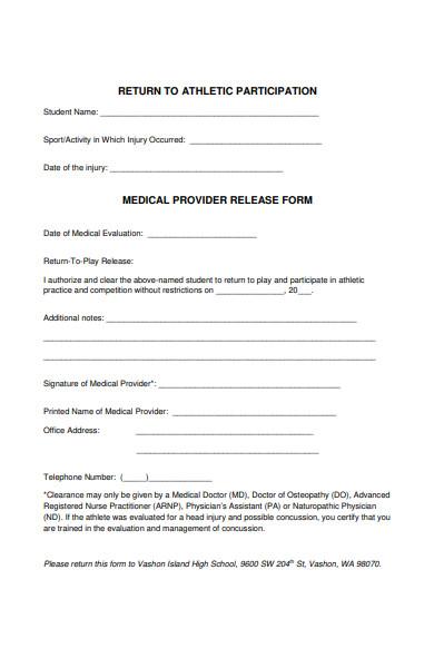 athlete provider form
