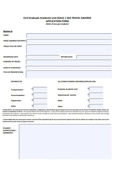 civil graduate form