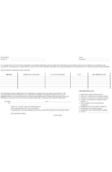 construction loan form