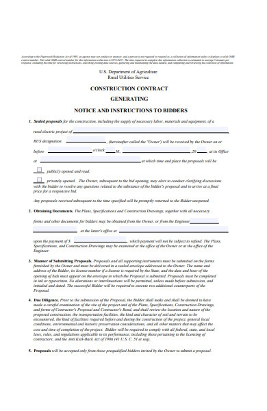 construction notice form template