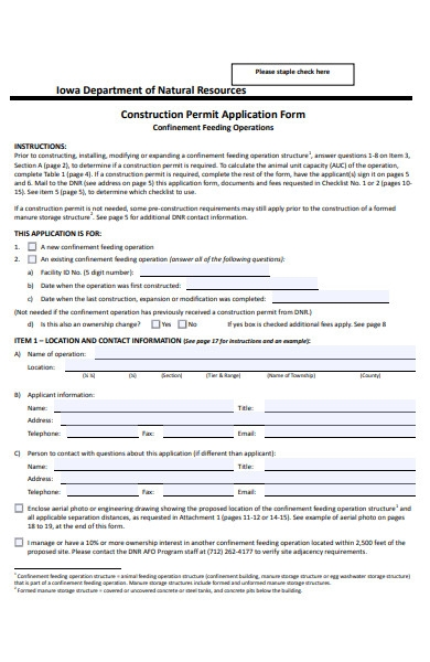 construction permit application form