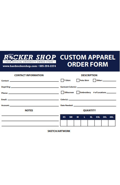 custom appeal order form