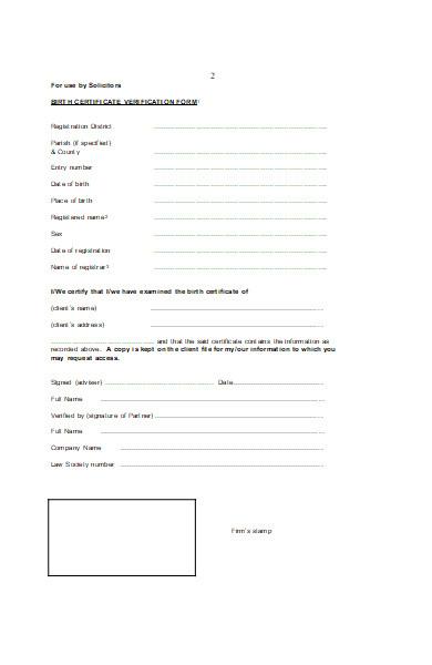 death verification form