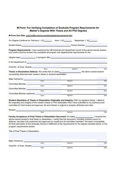 degree graduate form