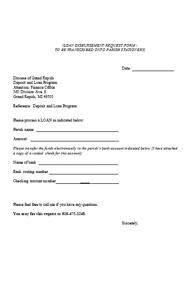 deposit loan program form