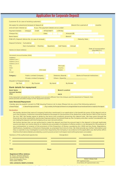 deposit protection scheme form