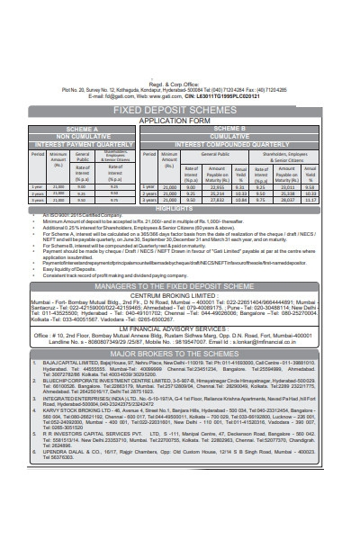 deposit scheme form