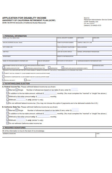 disability income form