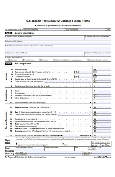 funeral trust form