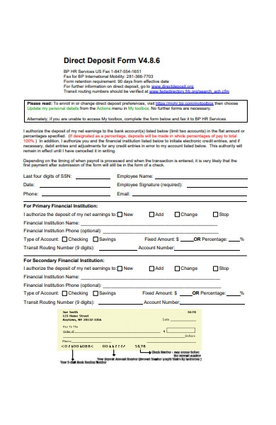 general deposit form
