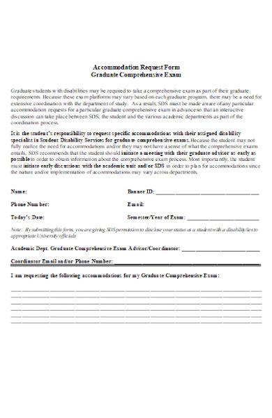 graduate accommodation form
