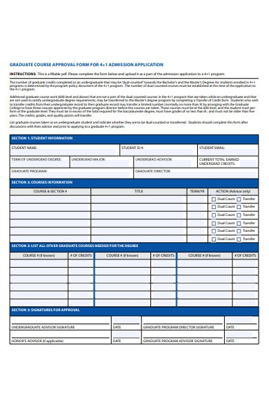 graduate approval form