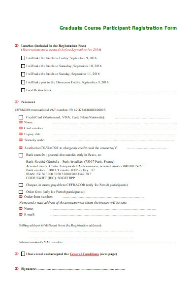 graduate course participant registration form1