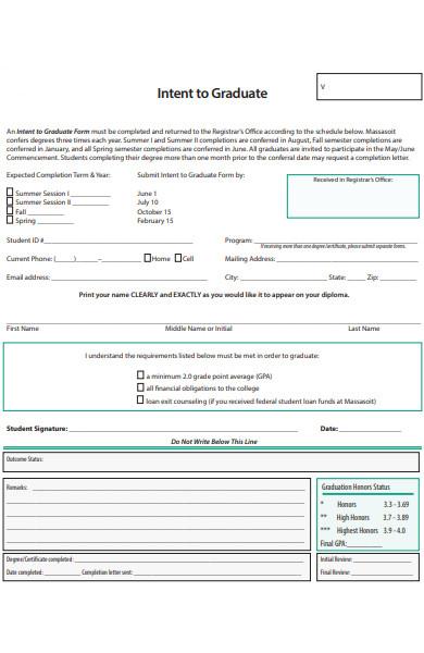 graduate intern form