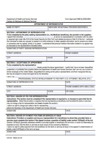 health care representative form