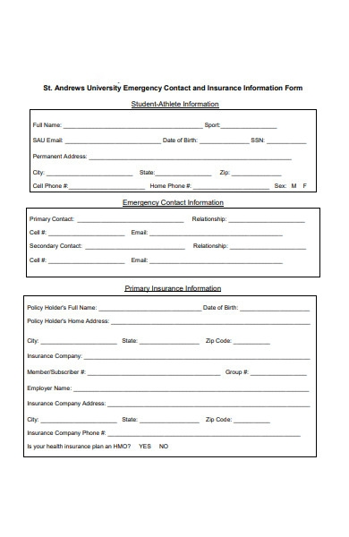 incoming athlete form