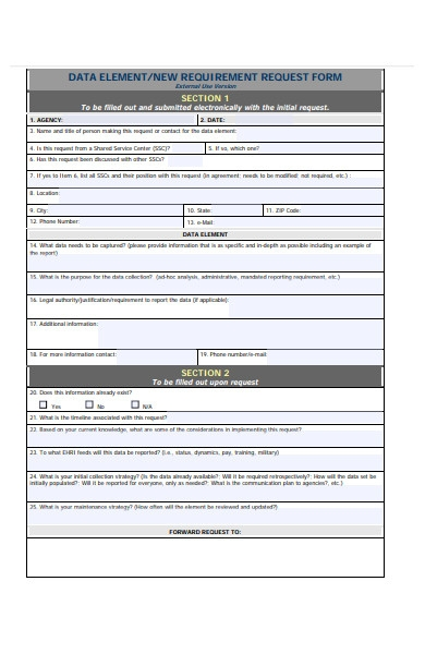new requirement request form